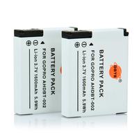 DSTE 2PCS Replacement Li-lon Battery Pack for Gopro AHDBT-002 Hero Hero2 Camera