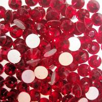 SS8(2.3mm) 1440pcs Glitter Gem 3d Nail Art Rhinestones Decorations Non Hot Fix Flatback Nail Tools DIY Crystal Crimson