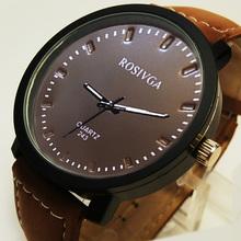 Retro Mens Watches Quartz PU Leather Round Dial Fashion Mens Wristwatches Free Shipping WWFA243(China (Mainland))