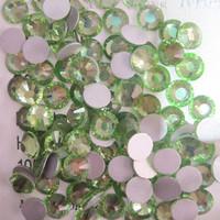 SS8(2.3mm) 1440pcs Glitter Gem 3d Nail Art Rhinestones Decorations Non Hot Fix Flatback Nail Tools DIY Crystal Peridot 009