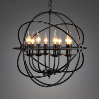 Modern Creative Retro Vintage Pendant lamp  Iron Rings Chandelier Lamp Lighting Fixtures