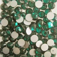 SS8(2.3mm) 1440pcs Glitter Gem 3d Nail Art Rhinestones Decorations Non Hot Fix Flatback Nail Tools DIY Crystal Emerald 010