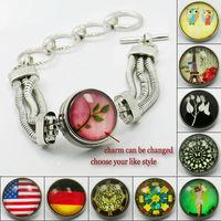 1X2014 New Fashion Charm Bracelets with OT Clasp for Women,22cm long