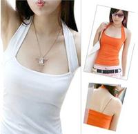New 2014 Fashion Women Crop Top Sexy Halter Blusas Femininas High Quality Camisole Casual T Shirt Women
