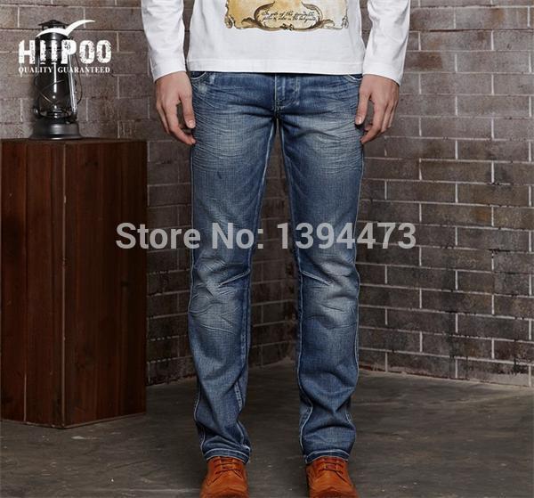 Hiipoo famous designer men's jeans jeans pant pattern making 2014 new style men latest design jeans pants men trendy jeans(China (Mainland))