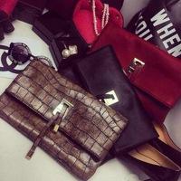 2014 brand Women Handbag clutch Messenger Bags women PU Leather handbag shoulder pouch new arrive
