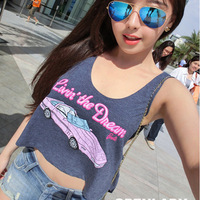 Hot Selling!Sexy backless Casual vest Lovely joker temperament Thai car vest free shipping
