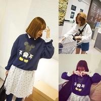 2014 Women New Hoodies Autumn Shorrt Animal Printed Pullover Casual Fashion Sweatshirts WE1073