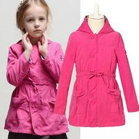 2014 Brand fashion girls trench coat best quality autumn & winter Babi girl outerwear child coats kids jackets