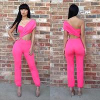 Women Sexy nightclub jumpsuits Siamese Pants women bandage clothes