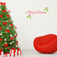 2015 Free shipping new design removable DIY MERRY CHRISTMAS wall sticker xmas23