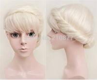 New Cartoon Movie Frozen Snow Wig Queen Anna Elsa Wig Blonde Braid Cosplay Anime Wig ponytail Classic Halloween Hair