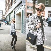 2014 New Fashion Bodycon Slim Temperament European Style Retro Vintage Black and White Graffiti Printing Leisure Suit Women31495
