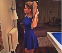 2014 European and American trade Halter sexy nightclub ladies sleeveless vest dress