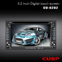 """Free shipping !!! universal  2 Din 6.2"""" Car stero player with GPS,support 3 G ,1080p ,Bluetooth,HD digital touch screen"""