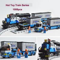 New Arrival Hot Toy Ausini Railway Trains Building Blocks Assembling Blocks Toy for Children Christmas Gift  Model Building Gift