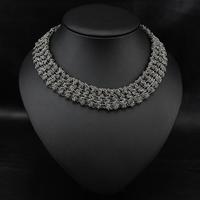 Wholesale Aliexpress Jewelry Fashion Vintage Costume Women Bijoux Twist Chain Collars Statement Choker Necklace