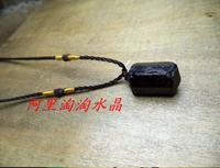 A++ Natural black tourmaline ore Gem Stone pendant black tourmaline nunatak energy chakra stone pendant purification +free rope