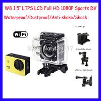 Original W8 Action Camera Waterproof Camera 1080P Full HD Helmet Camera Unwater Sport Cameras HD Sports DV Portable Camcorders