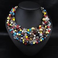 Wholesale Violetta Jewelry Fashion Collar Necklace Perfume Women Beads Collier Vintage Handmade Choker Pendant necklace