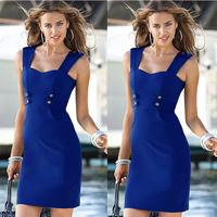 Women clothing 2014 Fashion Slim office pencil Dress New formal Evening dress Elegant knee length women bandage bodycon dress