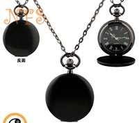Lead Black classical luxury pocket watch, smooth retro fashion watch, quartz pocket watch for men