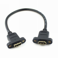 [FREE SHIPPING/EPACKET!] WHOLESALE 20pcs/lot HDMI 1.4v with Ethernet & 3D Type A F/F Cable 0.3m with screw Panel Mount holes