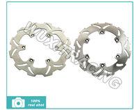 Front + Rear Brake Disc Rotors For SUZUKI RM 125 K L M N P R S T K RMX 250 SJ13A DRZ E S 400