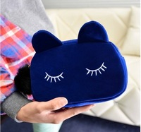 Free shipping 2014 new Women PU Leather Day Clutches new Europe fashion cute domesticated hen kitty cosmetic bag purse