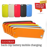 For iphone 6 case + 3200MAH back clip battery for iphone 6 case mobile charging power protable power bank free shipping