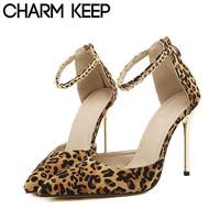 2014 New Arrival Women Sandals High Thin Heel Pumps for Women Sexy Leopard Pumps for Women Drop Shipping 1216