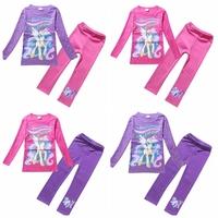 2014 autumn new cartoon clothing set my little pony girls universe Princess long sleeve t shirt+Leggings suit