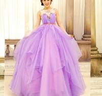 luxury beading floral lavender ruffles long medieval dress ball gown vintage style long evening dress
