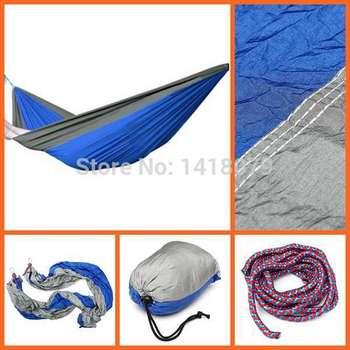 Бесплатная доставка портативный парашют нейлоновая ткань гамак путешествия отдых для двойной два человека