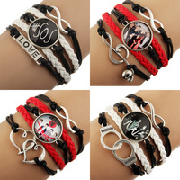 12pcs 2014 NEW  Sideways Mix Charm Music Super Star 5 seconds of summer 5sos Bracelets Wristbands Jewelry Fans Free shipping