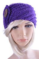 King size  Button  Handmade headband Knit Headwrap crochet Headbands headwear