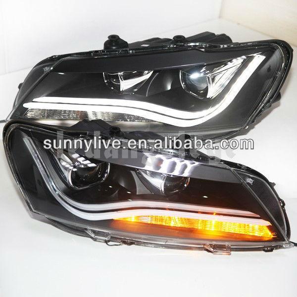 For VW Passat B7 LED Strip Head Lamp Angel Eyes 2011-2014 Year LDV2 Type North American Version(China (Mainland))