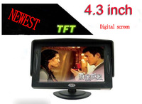 Newest 4.3 Inch TFT Digital Screen Car Monitor Mirror View Rearview Auto Support DVD AQC29