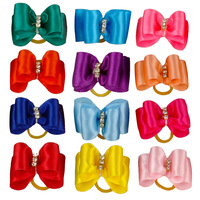 50pcs Colorful Dog Pet Cat Puppy Rhinestone Hair Bows Pet Grooming Accessories
