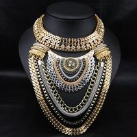 Aliexpress Fashion Wholesale Exaggerate Jewelry Vintage Perfume Women Collars Luxury Boho Necklace Choker Statement Necklace