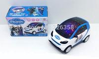Free shipping Children Snow Queen Elsa Anna 3D light Electric vehicle,kids Frozen Musical toys/Boys Girls Educational toys,12pcs