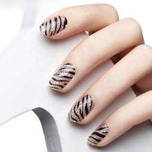 1Sheet/16PCS Stylish Women Beauty 3D Design DIY Tip Nail Art Nail Sticker Nails Decal Manicure Nail Tools Free Shipping