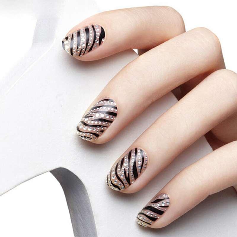 1Sheet/16PCS Stylish Women Beauty 3D Design DIY Tip Nail Art Nail Sticker Nails Decal Manicure Nail Tools Free Shipping(China (Mainland))
