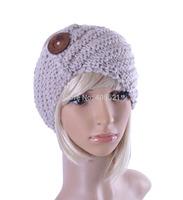 Free shipping  King size  Button  Handmade headband Knit Headwrap crochet Headbands headwear