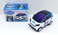 6pcs/lot Frozen Educational Musical toys/kids Elsa Anna 3D light Electric vehicle,15.5*9*9.5cm