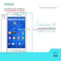 Free ship 5pcs NILLKIN Amazing H & H+ Nanometer Anti-Explosion Glass Screen Protectors for Sony Xperia Z3 L55 case