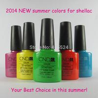 Free shipping 24Pcs/lot 2014 New CND Shellac soak off UV Led Nail Gel Polish 73Colors Available
