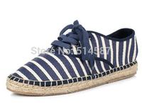 Women Flat Shoes New 2014 Denim color Casual Woman Espadrille Shoes Canvas Flats Dress Ballerina Dance Shoes AH140