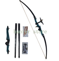 super quality cast aluminum target straight bow 51lbs 45'' recurve takedown bow for both hands hunter hunting