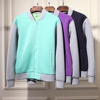 Winter autumn european hip hop coats for mens famous brand grey sleeve jacket patchwork neoprene baseball jackets men Nora10599